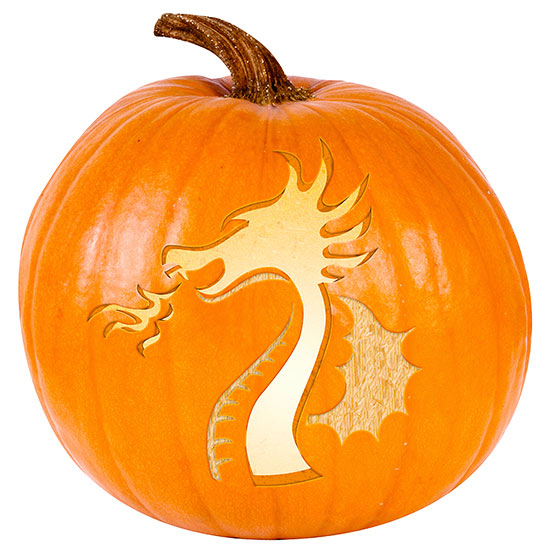 Dragon Pumpkin Stencil