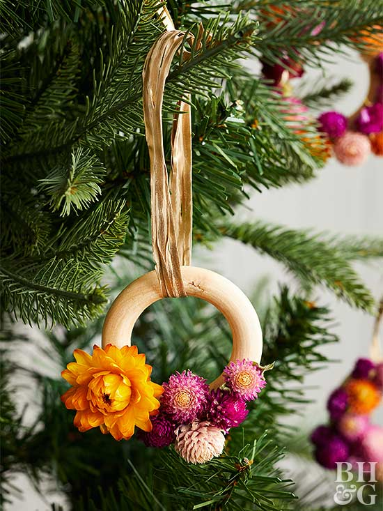 DIY flower ring ornament