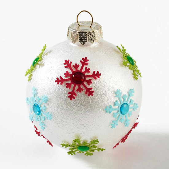 Metallic Snowflake Christmas Ornaments