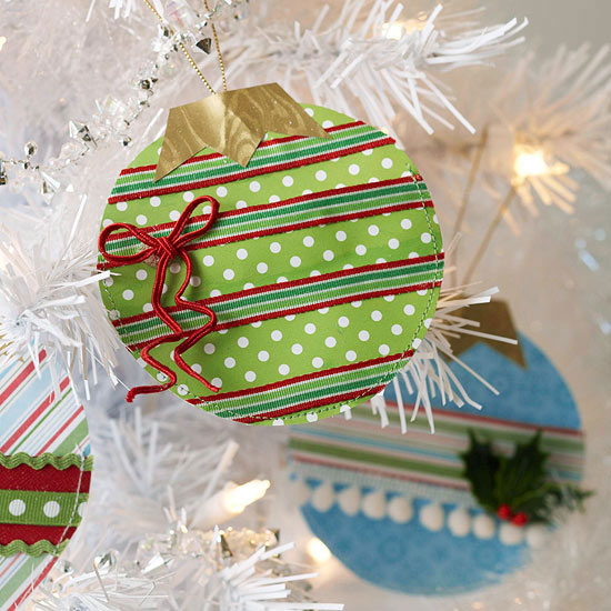 Decorated Paper Christmas Ornaments