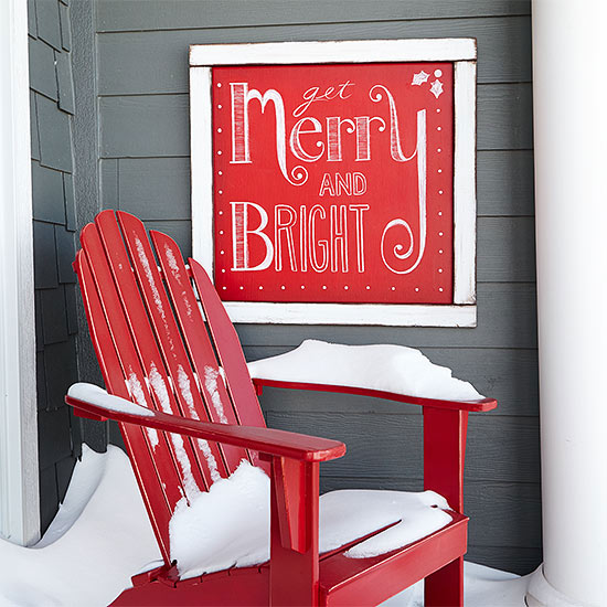 Top Christmas Outdoor Decoration: Merry and Bright Sign