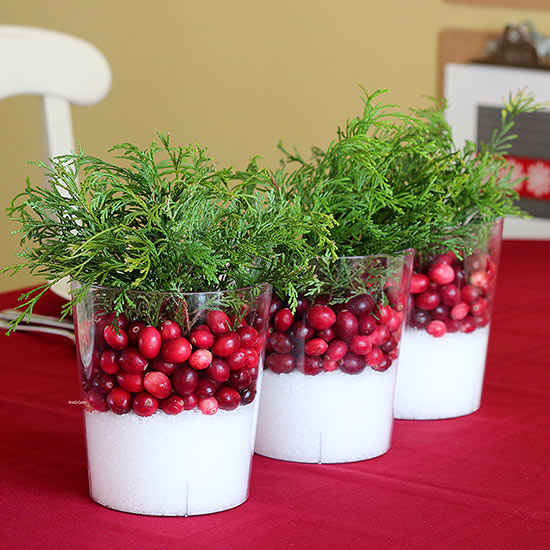 Easy Winter Cranberry Centerpiece