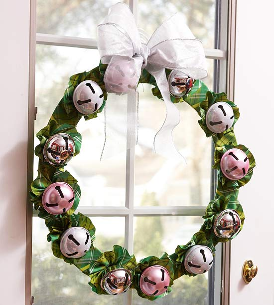 Add Spare Jingle Bells to a Christmas Wreath