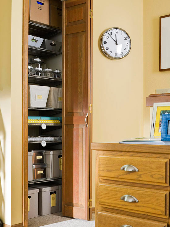 Home Office Closet: Simple Makeover