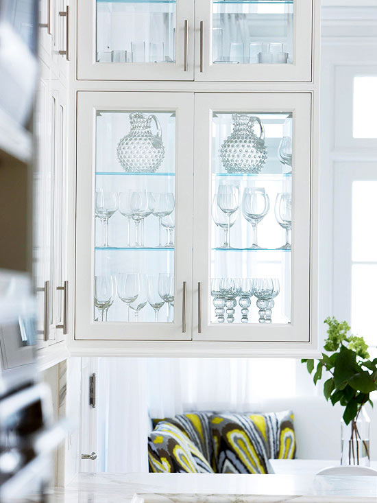 missisauga kichen cabinet glass styles | Glass-Front Cabinetry | Better Homes & Gardens