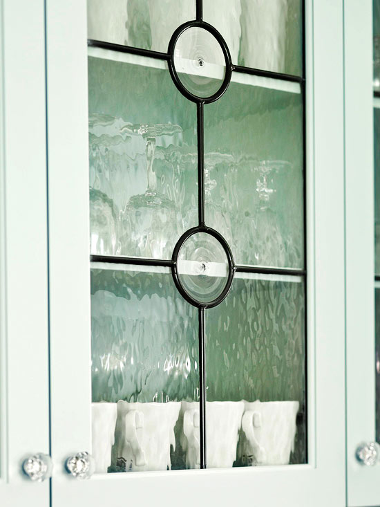 Leaded-Glass Cabinet Doors
