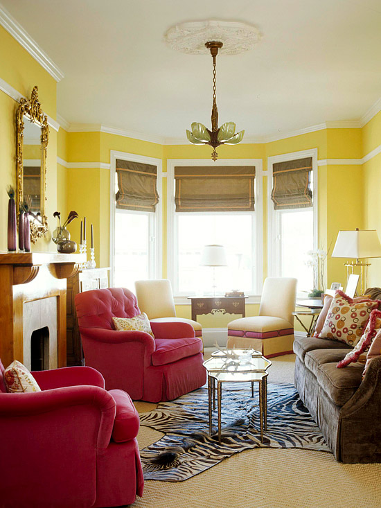 How To Decorate Your Living Room With Cheery Yellow