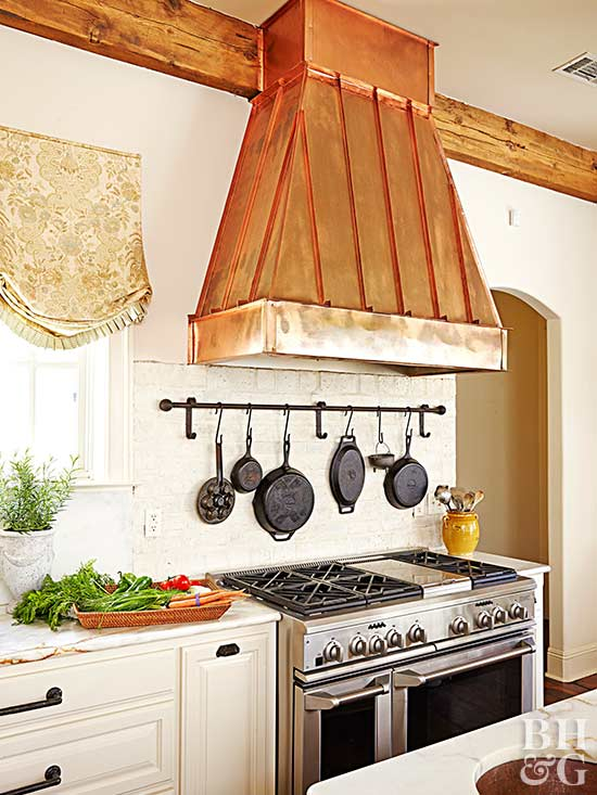 mixed metals, copper, kitchen