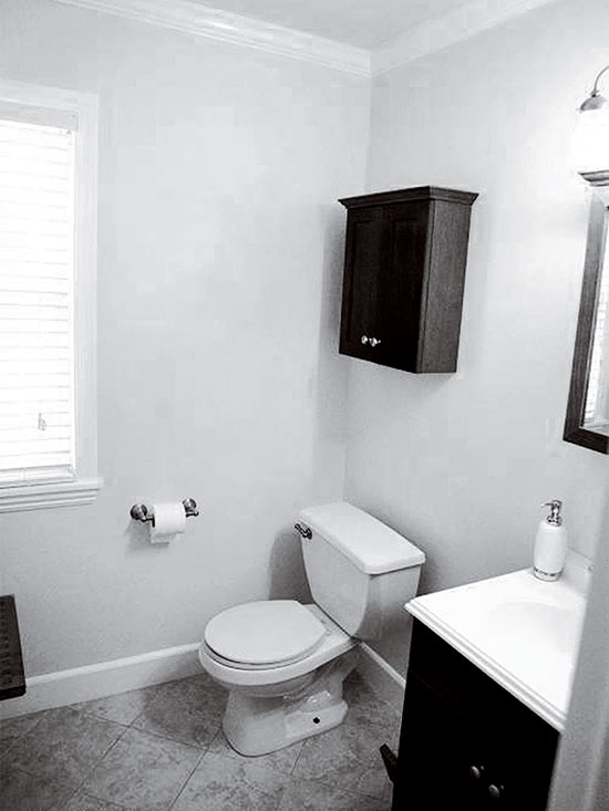 Tiny Guest Bath Makeover Packed with Style
