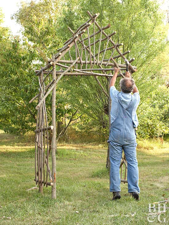 Make Your Own Willow Arbor Better Homes Amp Gardens