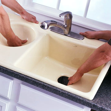 Step 14: Drop In a New Sink
