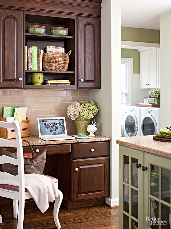 Dark Wood With Detail Cabinets