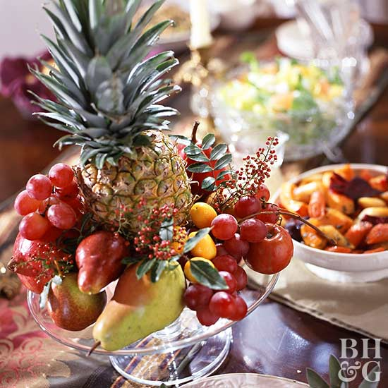Elevated Mixed Fruit Centerpiece