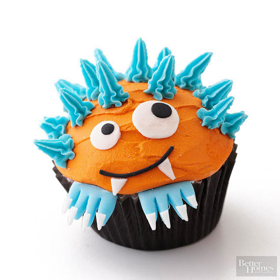 Orange Monster Cupcake