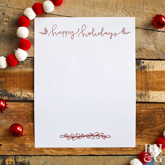 Happy Holidays Letter