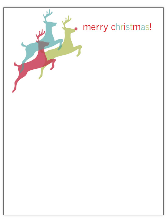 Leaping Reindeer Christmas Letter