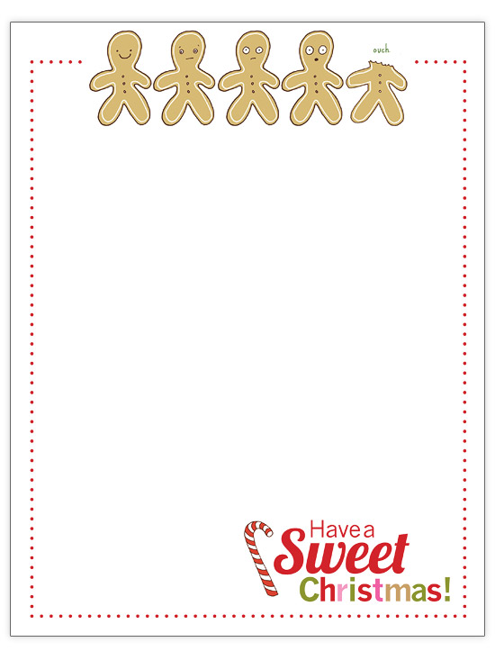 Gingerbread Parade Christmas Letter