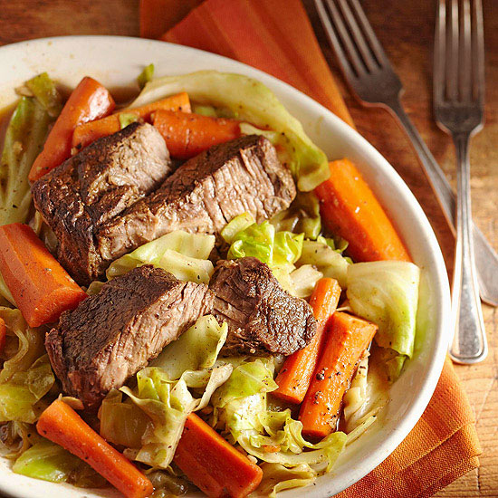 Slow-Cooked Beef and Vegetables for Two,