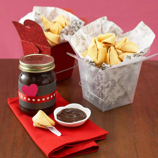 Fortune Cookies with Dipping Chocolate