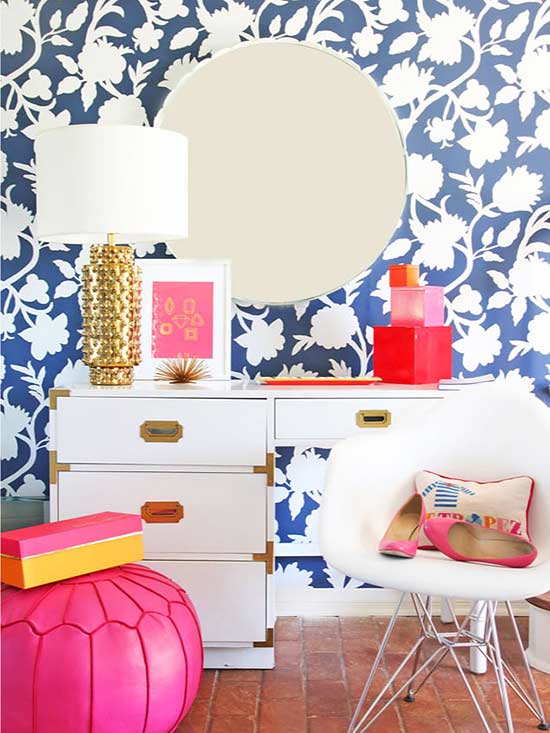 Wallpapered Accent Walls