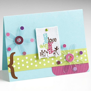 Clear Accent Card Circular Greeting