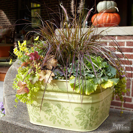 Potted Autumn Arrangement