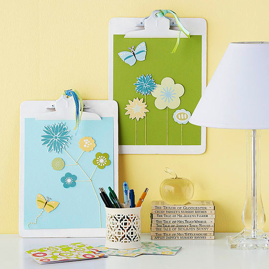 Easy art made with Scrapbooking supplies