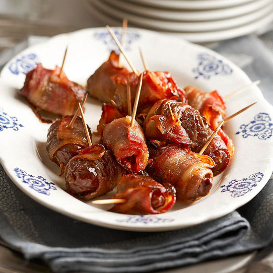 Roasted Dates with Bacon,