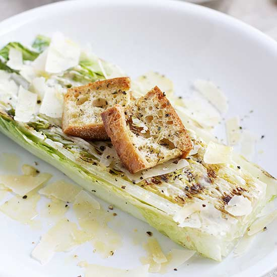5. Grilled Romaine Hearts Salad