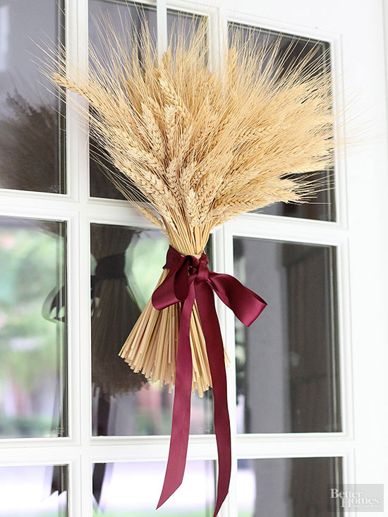 Fall Wheat Sheave Wreath