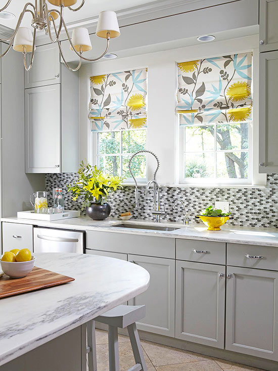 excellent white kitchen yellow accents | No-Fail Kitchen Color Combinations | Better Homes & Gardens