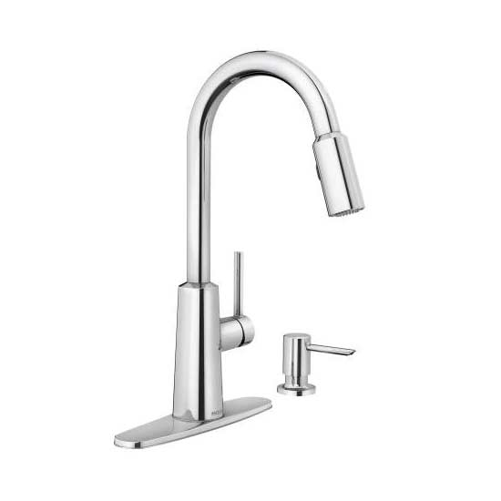 Moen-Nori chrome one-handle high arc pulldown kitchen faucet
