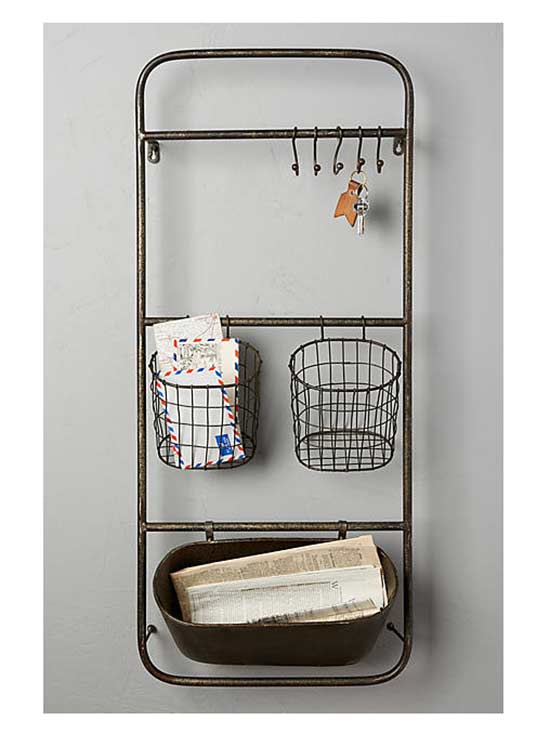 Iron Entryway Shelf