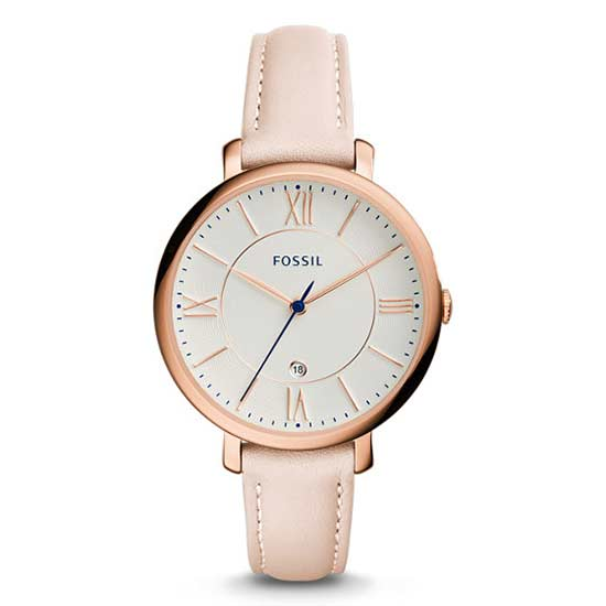 Jacqueline Blush Leather Watch