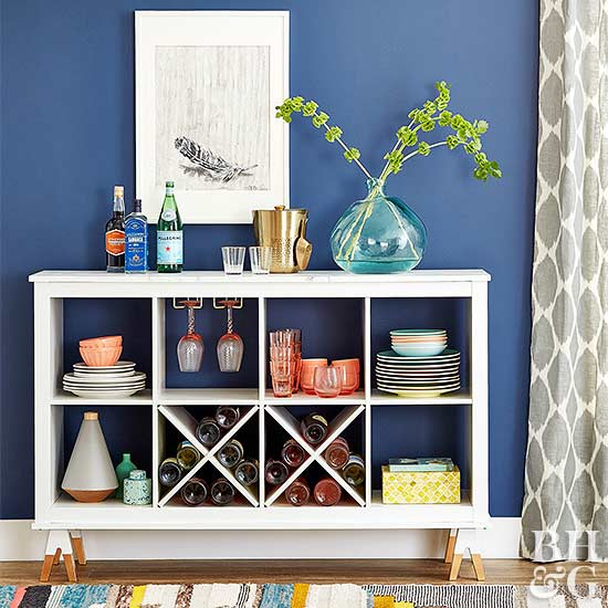 Turn a Basic Storage Cube Unit into a Chic Modern Buffet