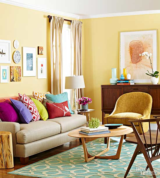 To Enhance The Hues Already Present In A Yellow Tone Wood Floor Go Vibrant With Sunrise Leaning Hue Shade Brings Out Undertones