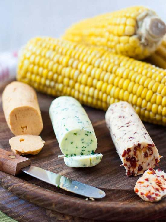 Corn-with-Flavored-Butters
