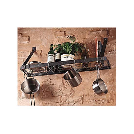 Chanti Bookshelf Pot Rack