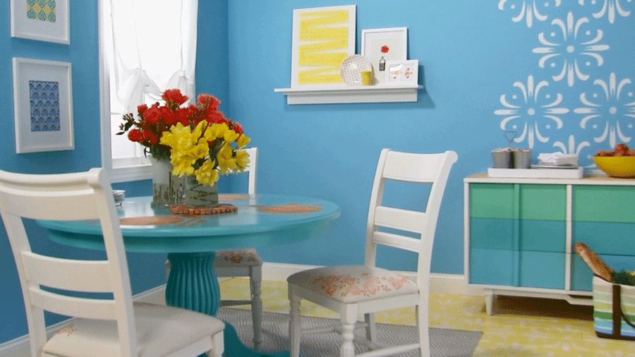 DIY Dining Room Makeover Ideas Featuring Paint