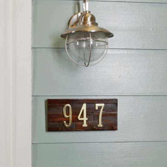 Make Your Own Midcentury-Modern House Numbers