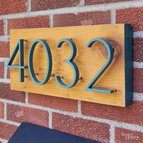 How to Make a Modern House Numbers Plaque