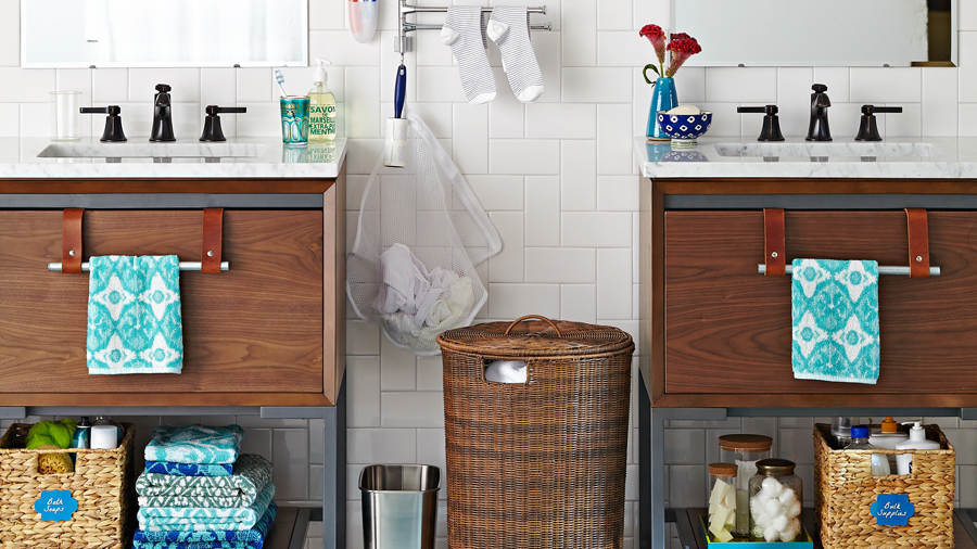 GENIUS Storage for Awkward Bath Wall Spaces