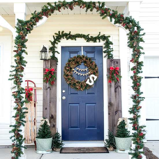 Farmhouse-Inspired Christmas Porches