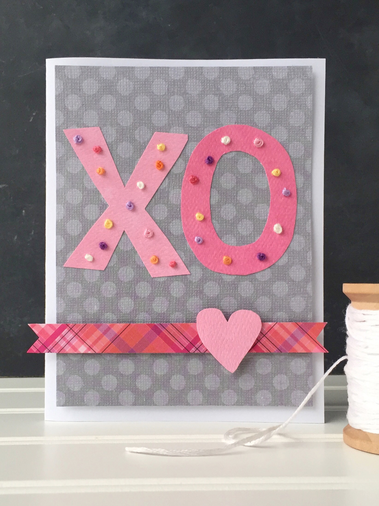 Stitched XO Card