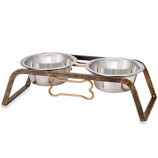 Bed Bath And Beyond -Rustic Bone Elevated Pet Double Diners