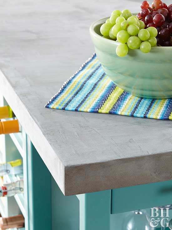 How to Apply a Faux-Concrete Countertop Finish