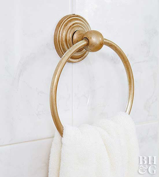 DIY Gold Bathroom Hardware
