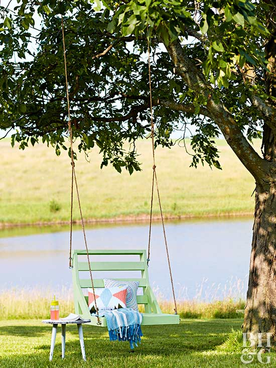 How To Build A Hanging Swing Chair Better Homes Gardens