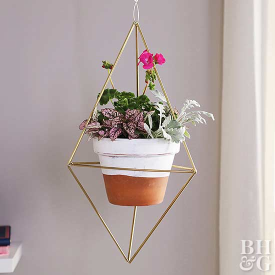 Hanging Prism Pot Holder