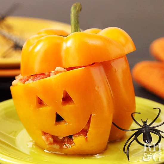 peppers, lantern peppers, Halloween snacks